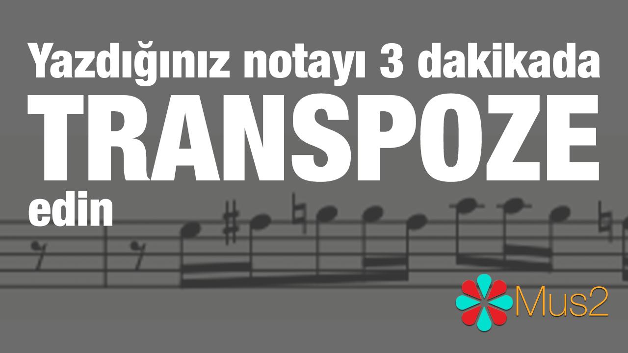 Yazılan notanın başka bir sese transpoze edilmesi